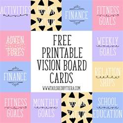 vision board template vision board cards setting and maintaining goals
