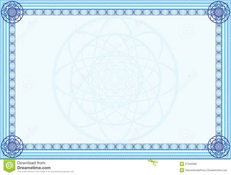 decorative frame stock vector image of empty blue