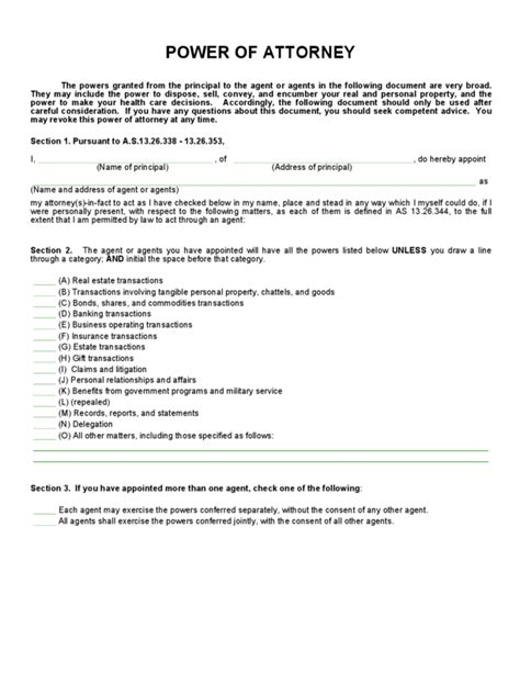 general power of attorney template power of attorney form