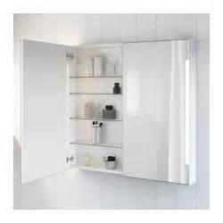 Ikea Vanity Light Install Storjorm Mirror Cab 2 Door Built In Lighting White