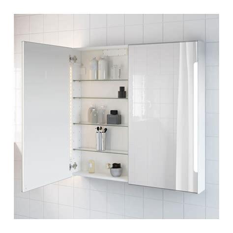 Storjorm Mirror Cab 2 Door Built In Lighting White Ikea Bathroom Mirrors With Lights