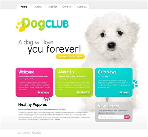 Dog Website Template 26007 Free Pet Store Website Templates