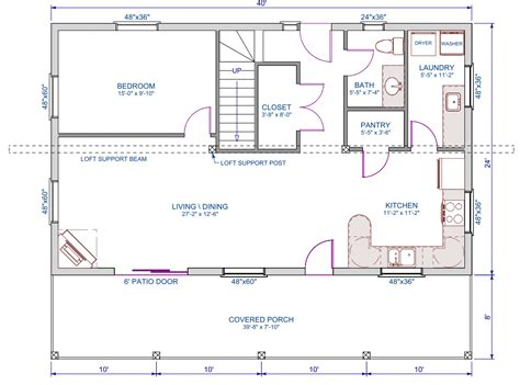 Small Cabins With Loft by 960 Sqft E
