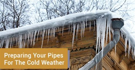 Cold Weather Plumbing Tips by 5 Tips To Prepare Your Pipes For The Cold Weather Advanced Plumbing Drains Heating