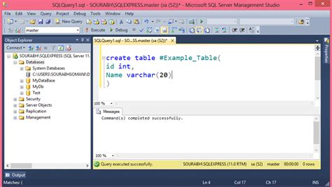 Create Temporary Table by Temporary Table In Sql Server