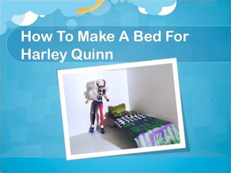 how to make a barbie bed how to make a bed for your harley quinn doll dc super