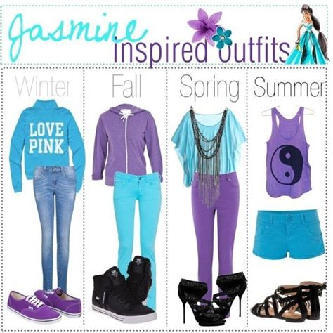 pattern heels polyvore jasmine inspired outfits character clothes inspired by