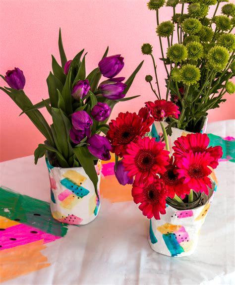 How To Make Paper Mache Flowers - paper mache diy flower vase a subtle revelry