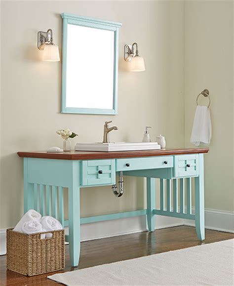 Bathroom Vanity Desk by Home Dzine Bathrooms Desk Becomes A Bathroom Vanity