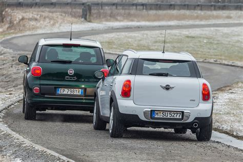 fiat 500 vs fiat 500l fiat 500l vs mini cooper countryman comparison test