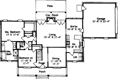 200 sq ft house plans country style house plan 4 beds 3 baths 2333 sq ft plan