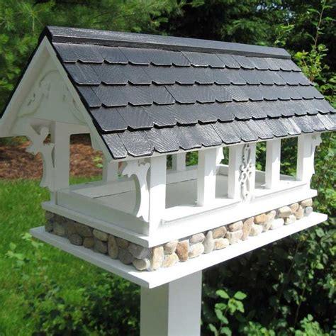 build  covered platform bird feeder woodworking