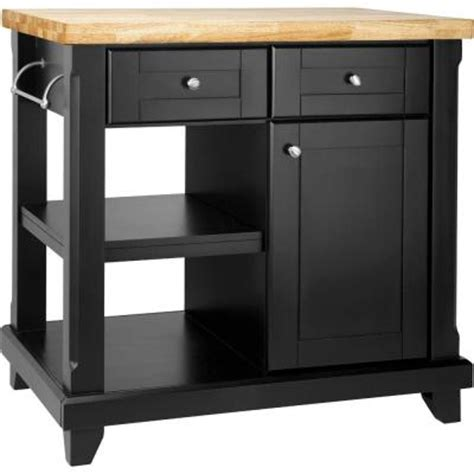 Kitchen Island At Home Depot Rsi 36 In Shaker Kitchen Island In Black Discontinued