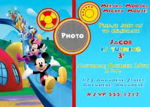 mickey mouse clubhouse invitations template mickey mouse clubhouse birthday invitation birthday