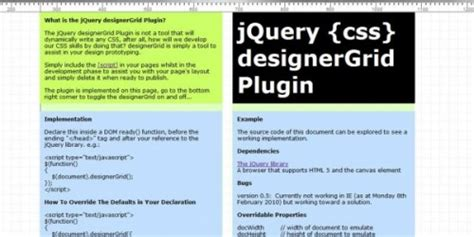 jquery layout manager plugin jquery grid data presentation plugins