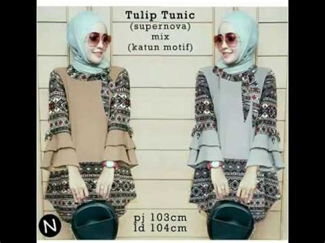 Akcs Baju Muslim Dewina Tunik model baju muslim tunik modern terbaru untuk pesta