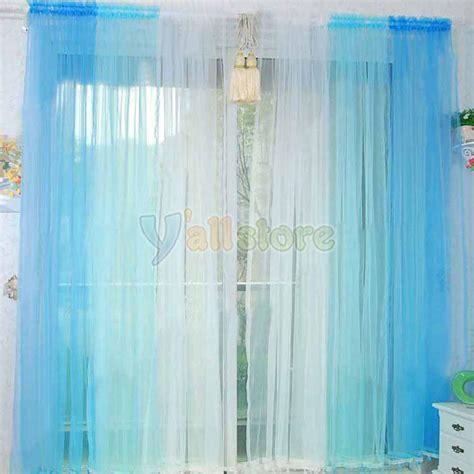 2 pcs 50 quot x84 quot sheer voile gradual rainbow window panels curtains colors ebay