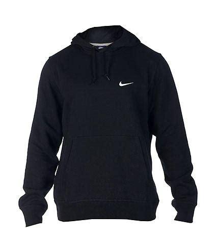 Nike Hoddie Text Black nike club swoosh pullover hoodie black from jimmyjazz