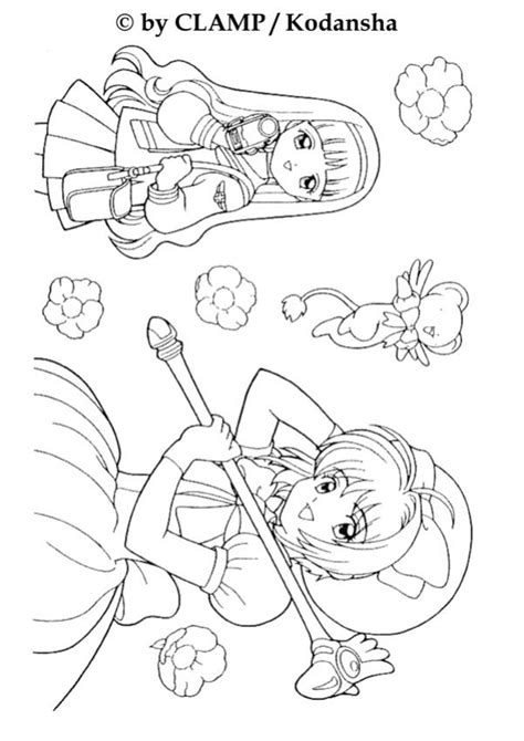 Sakura Card Captor Coloring Page Coloring Home Cardcaptor Coloring Pages