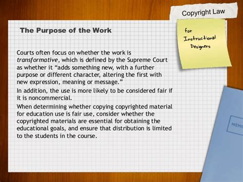 title 17 usc section 107 copyright law for instructional designers