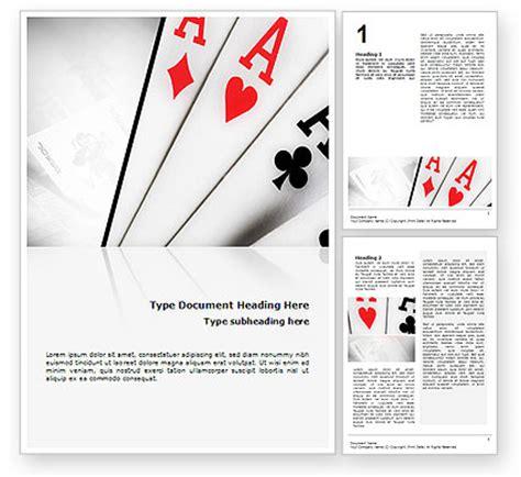 Deck Of Cards Template Word by Deck Of Cards Template