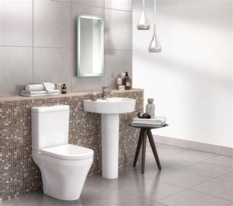 Elation Bathroom Furniture Beo Elation 420mm 1 Tap Basin And Pedestal
