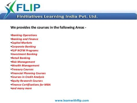 Mba Risk Management Syllabus by Courses Offered By Finitiative Learning India Pvt Ltd Flip