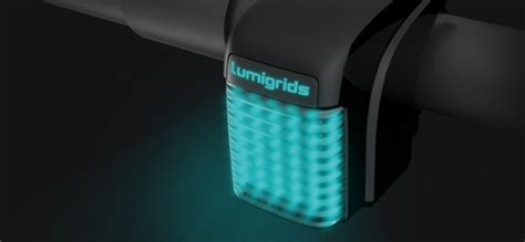 grid pattern bike light concept design for a bike light that projects a grid on