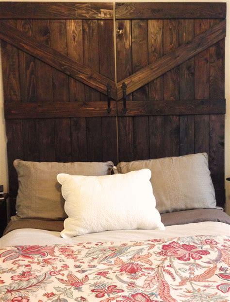 Handmade Headboard - handmade cedar barn door headboard