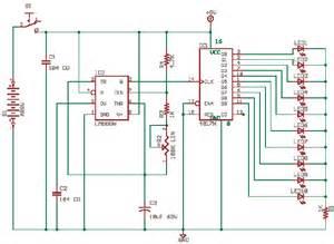 running lights with cd4017 delabs schematics