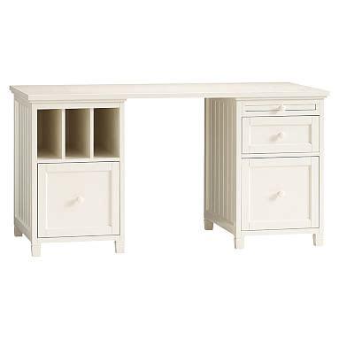 White Wood Desk Pbteen White Beadboard Desk