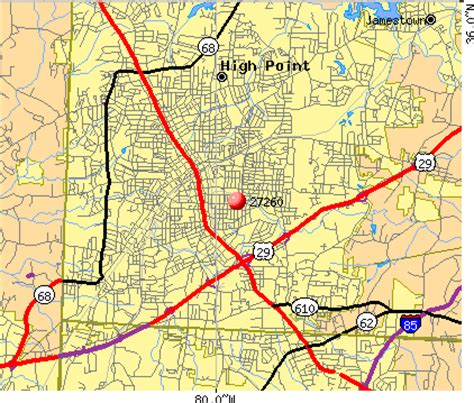 map north carolina highpoint