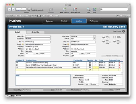 filemaker invoice template filemaker pro goes to 11 admits like spreadsheets