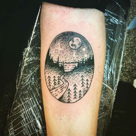 landscape tattoos 27 awesome picturesque landscape designs sortra