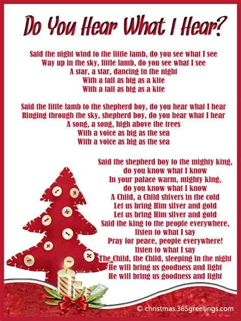 christmas song do you hear what i hear christmas decore