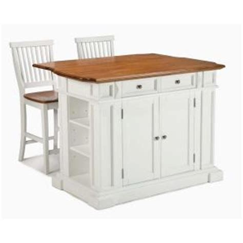 kitchen island home depot home styles kitchen island in white with oak top and two