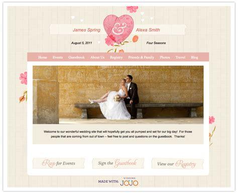 Wedding Vendor Websites by Creative Wedding Website Wedding Jojo Sponsored Post