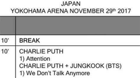 charlie puth jungkook mama 2017 rumor charlie puth jungkook will perform on mama to