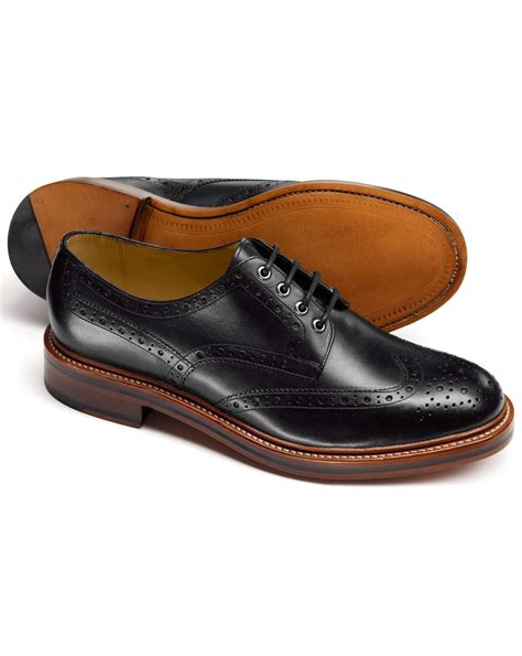 Handmade Mens Leather Shoes - handmade mens derby black dress shoes year
