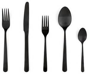 modern silverware almoco flatware black modern flatware and silverware