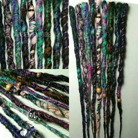 dreadlock wrapped around extensions for sale gypsy 7 crocheted dreads with charms wrapped by toxichair