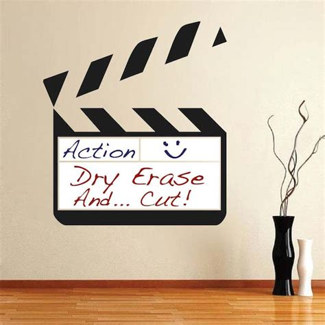 whiteboard wall stickers erase clapboard wall decal trendy wall designs