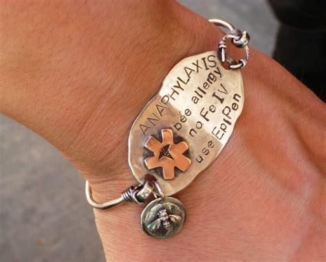 Handmade Alert Bracelets - crafted custom alert bracelet in sterling