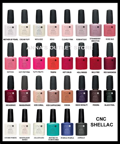 opi shellac colors opi gel nail color chart cnd shellac uv nail