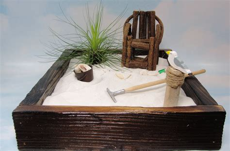 zen garten miniatur set miniature zen garden in rustic cedar box by