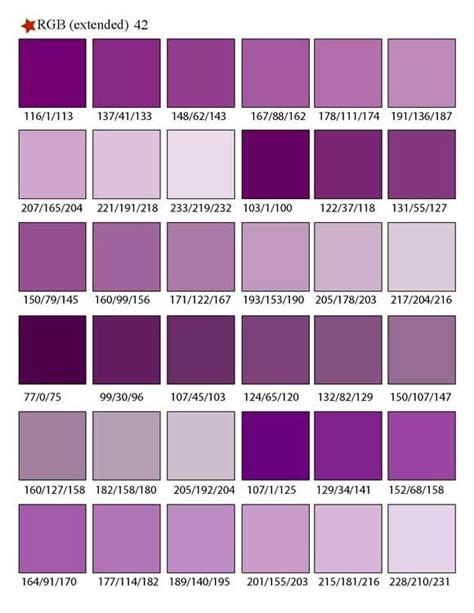 shades of purple chart best 25 purple color palettes ideas on pinterest