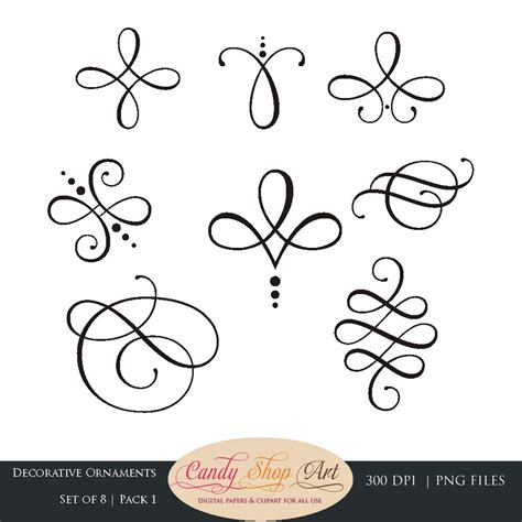 Calligraphy Decorations by Instant Calligraphy Ornaments Graphic Ornaments