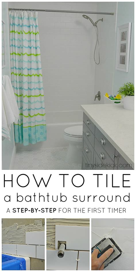 how to install bathtub wall surround how to tile a tub surround