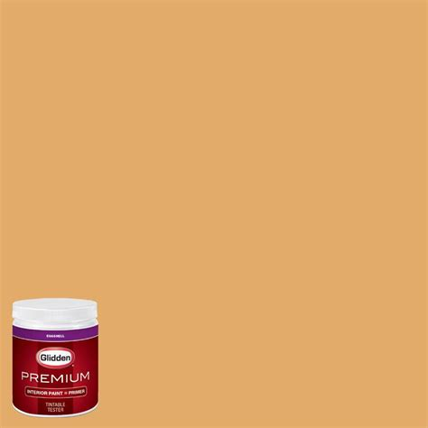 glidden premium 8 oz hdgo60 wood thrush gold eggshell interior paint with primer tester