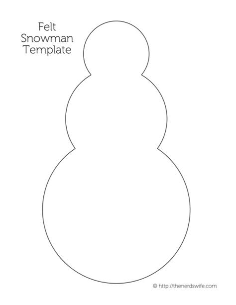snowman cut out template search results for template for a snowman